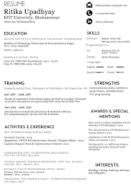 Make Online Resume by Resume Template Free Job Profile Examples Software Developer