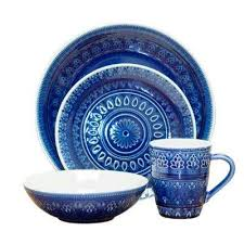 blue dinnerware tabletop bar the home depot