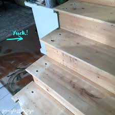 Sanding A Banister Staircase Remodel Prep Removing Railing And Filling Holes