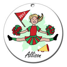 personalized cheerleading ornament mandys moon