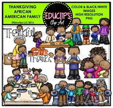 thanksgiving literature thanksgiving african american family clip art bundle color and