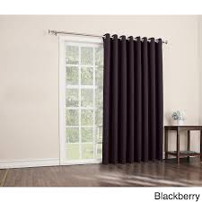 84 inch blackberry solid color sliding door curtain black sliding patio door panel window treatment single
