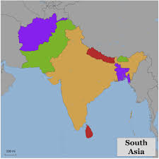 Asia Map by Blank Color Map Of South Asia