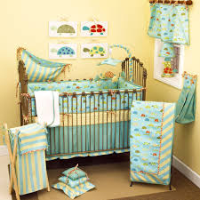 bedding navy and red vintage airplane crib bedding set in a