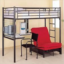 Uffizi Bunk Bed Coaster Max Futon Metal Bunk Bed With Desk In Black