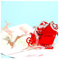 happy new year post card happy deer car pop up card 3d christmas greeting card laser cut