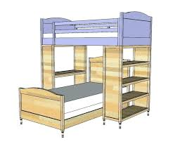 Diy Bunk Beds With Stairs Bunk Bed Blueprints With Stairs Ghanko
