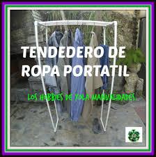 Diy Transfer Mueble Paso A Paso Tendedero De Ropa Portátil Hecho Con Tubos De Pvc Te Quiero And
