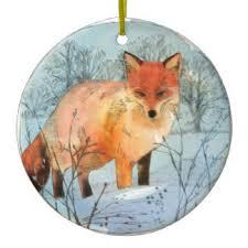 white fox ornaments keepsake ornaments zazzle