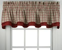 Shower Curtains With Red Bristol Plaid Print Fabric Shower Curtain Window Toppers