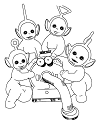 teletubbies care nunu coloring birthday teletubbies