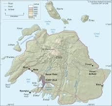 Vanuatu Map Efate Vanuatu Cartogis Services Maps Online Anu