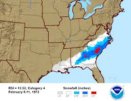 Storm Map Regional Snowfall Index Rsi Snow And Ice National Centers