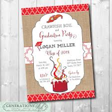 crawfish party supplies graduation party and crawfish boil invitation
