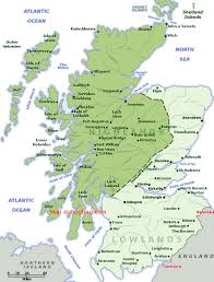 map of scotland and scotland map with tourist destinations linking to scotland