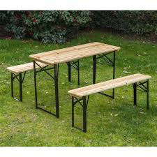 Wood Camping Table Outsunny Foldable Wooden Camping Picnic Table Set Aosom Co Uk