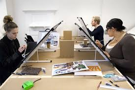Short Courses Interior Design by Students At Their Drawing Boards In Our Introduction To Interior
