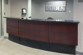 Custom Made Reception Desk Hand Crafted Fort Wayne Pools Reception Desk By Yb Normal Custom