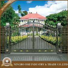 high quality customized house iron gate designs 2016 lasted online