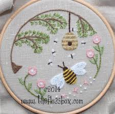 bee s world crewel embroidery kit