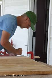 the red feedsack butcher block counter tops has he ever installed butcher block before no with just a little thinking and processing can he do it