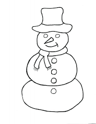Snowman Coloring Sheets Winter Pages Free Printable Book Coloring Coloring Page Of A Hat