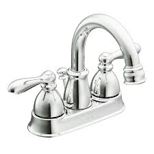 shop moen caldwell chrome 2 handle 4 in centerset watersense