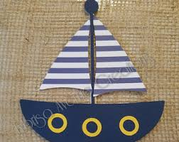 boat cake topper nautical cake topper sailboat cake topper baby boy cake