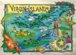Map Of Virgin Islands Postcards Of Nations Us Virgin Islands Map