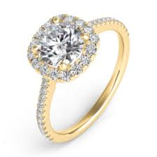 gold cushion cut engagement rings diamond engagement rings st louis michael herr diamonds