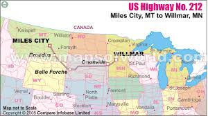map us hwy us route 212 map us highway 212 yellowstone national park wy to