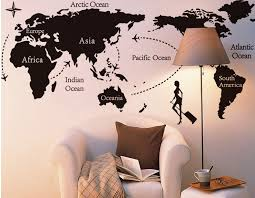 world map with country names contemporary wall decal sticker creative office wall stickers country name world map wall stickers