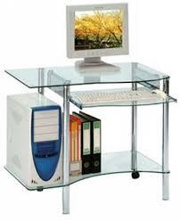 petit bureau informatique pas cher informatique moderne verre transparent