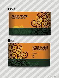 Business Card Fashion Designer 4 Designer Fashion Pattern Business Card Template 03 Vector Material