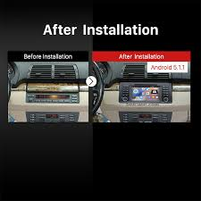 seicane s12753 quad core android 5 1 1 sat nav stereo for bmw 5