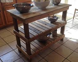 wood kitchen island kitchen island etsy