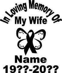 in loving memory cancer ribbon butterfly vinyl decal sticker car suv