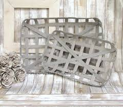 tobacco baskets farmhouse baskets handmade gray tobacco baskets