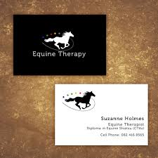 Massage Business Cards Examples Business Card Design For Equine Therapy Professional On Behance