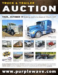 used semi trucks thursday october 19 truck and trailer auction purplewave inc