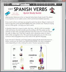 quick study guides download 101 spanish verbs quick study guide 1 vehicle
