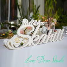 mr and mrs wedding signs aliexpress buy custom white letter mr and mrs last name