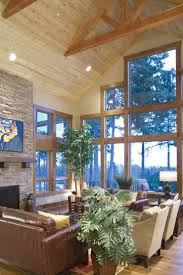 house plans with big windows living room craftsman living room with large wall of windows eye