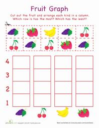 cut out graph fruit worksheet education com