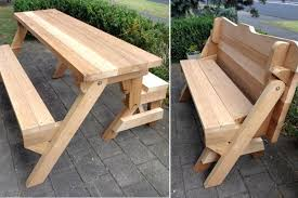 Wooden Picnic Table Plans Folding Bench And Picnic Table Combo Plans Pdf Explore Octagon