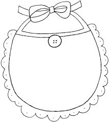 baby bib coloring pages people all about baby coloring pages