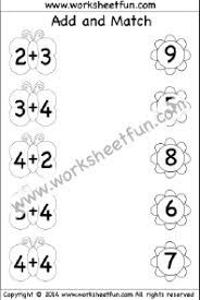 addition u2013 add and match free printable worksheets u2013 worksheetfun