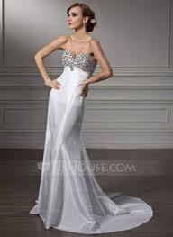 a linie herzausschnitt sweep pinsel zug taft brautkleid mit perlen verziert p90 square dropped sleeveless wedding dresses ykdress7454