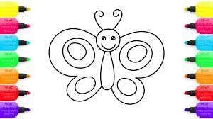 how to draw butterfly coloring pages animals for children art