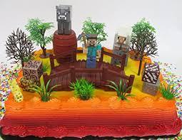 minecraft cake topper minecraft 20 birthday cake topper set featuring